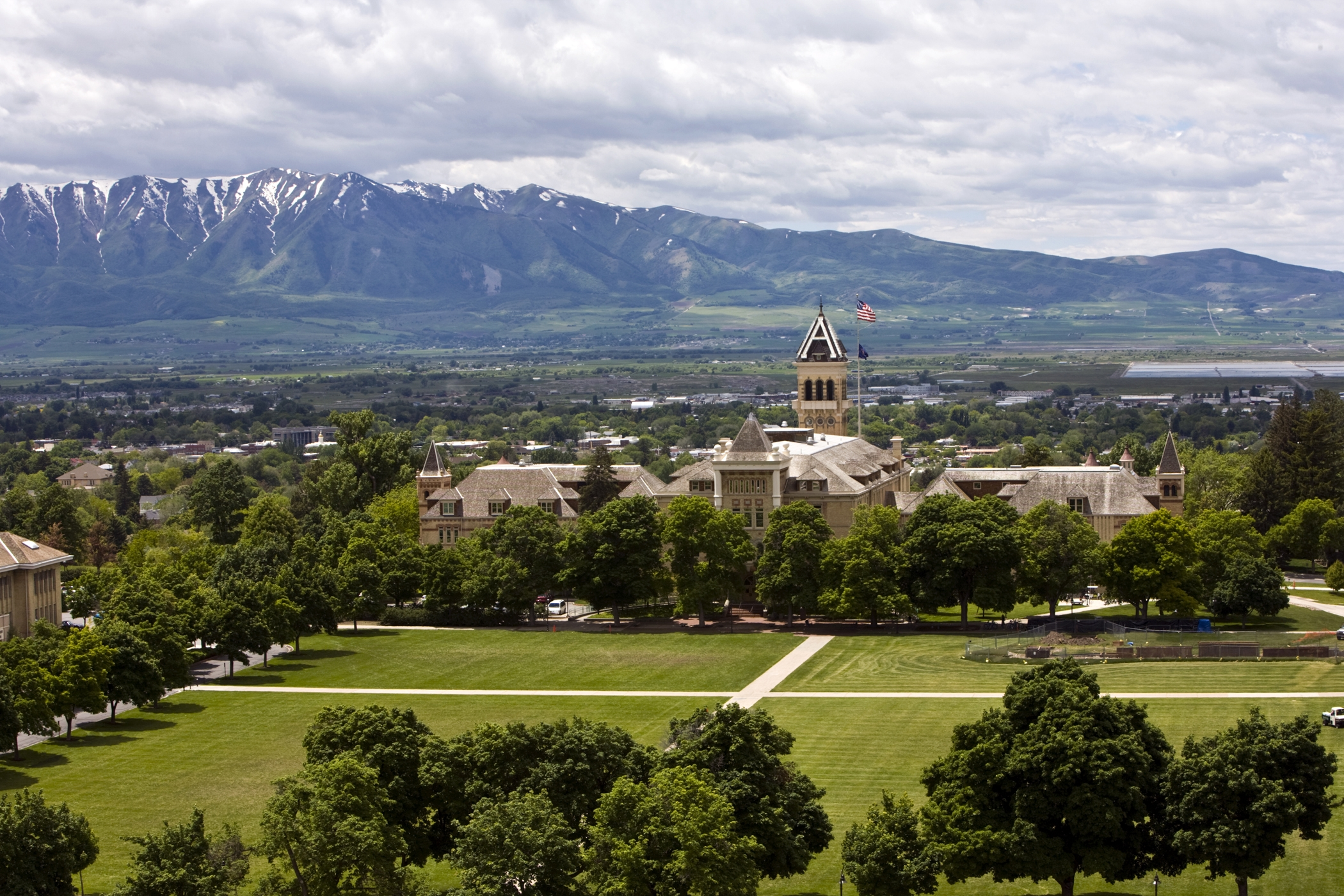 Picture of Old Main and The Quad in spring