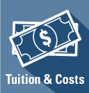Tuition and Costs icon link to information about current tuition and costs at USU