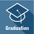 Graduation icon linking to information about graduation requirements