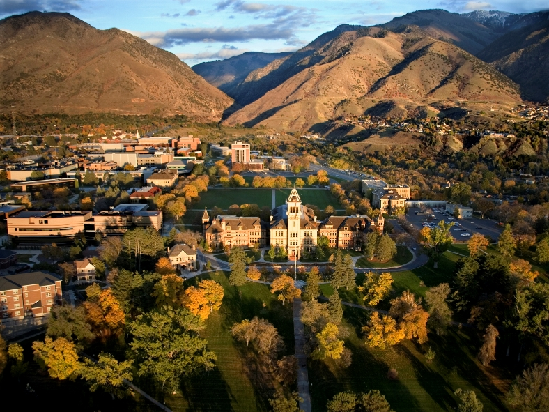 USU Campus, Aerial View